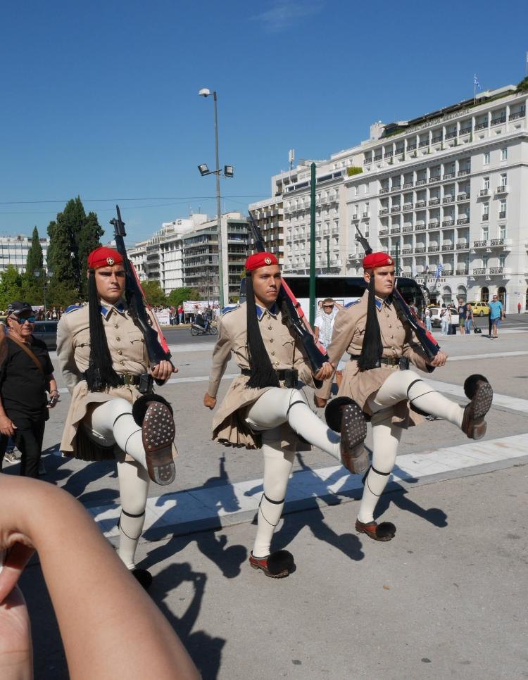 Evzones, Syntagma, Athènes