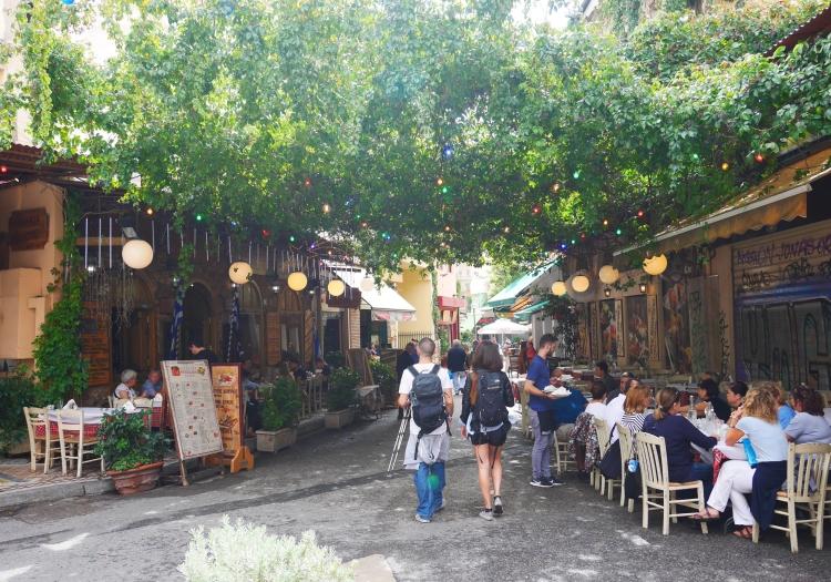 Athènes, aux environs de la Place Iroon
