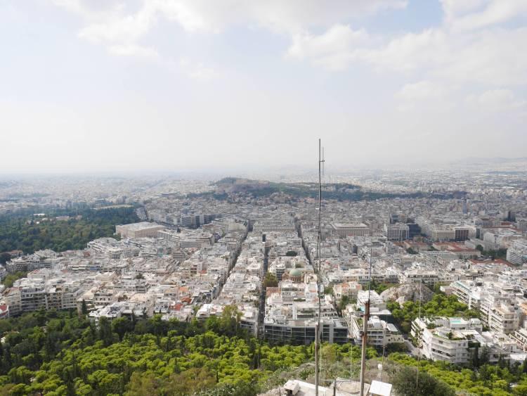 Vue sur Athènes depuis le Mont Lycabette