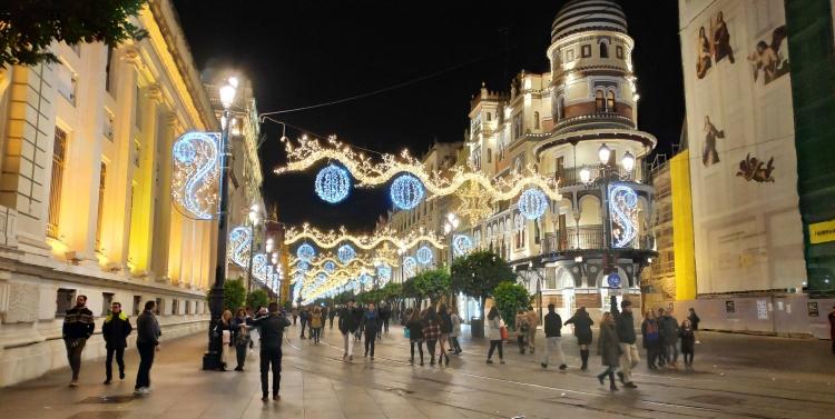 Décoration de Noël à Séville