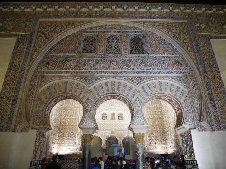 À l'intérieur de l'Alcazar de Séville