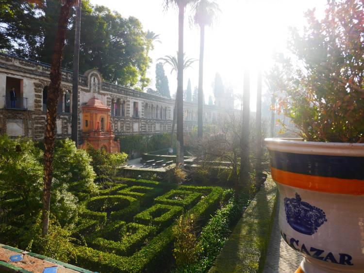 Séville. Les jardins du palais Alcazar.