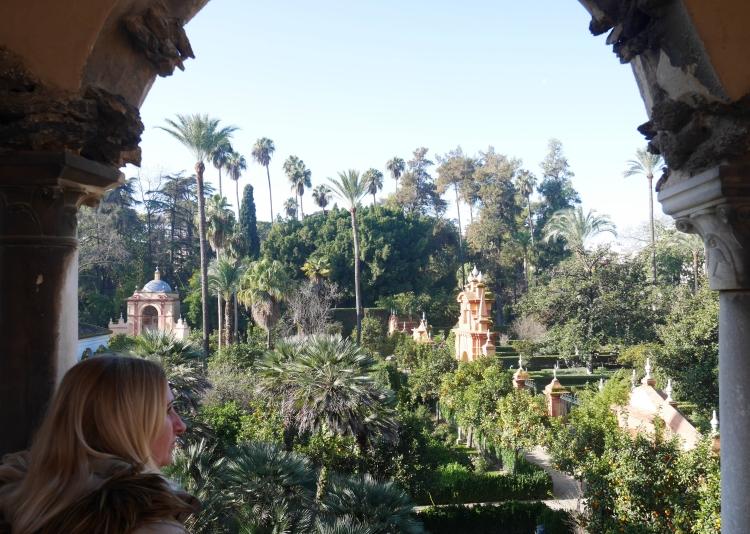 Palais de l'Alcazar de Séville. Les jardins.