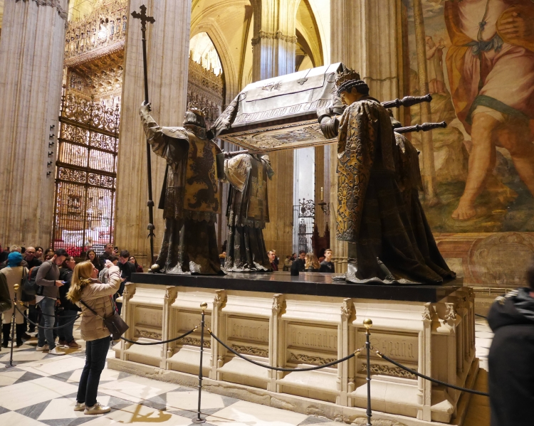Tombeau Christophe Colomb, cathédrale de Séville