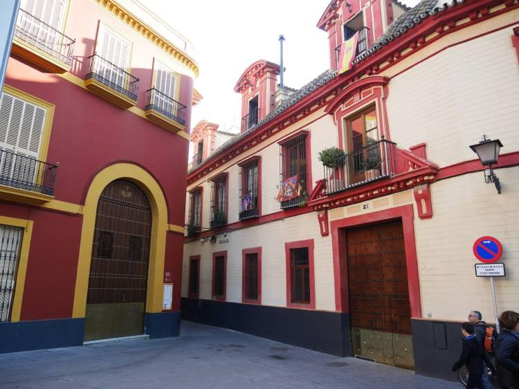 Dans les rues de Séville, Andalousie.