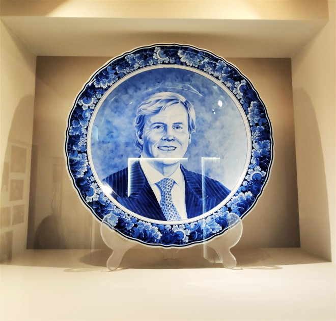 Assiette Bleu de Delft Roi des Pays-Bas