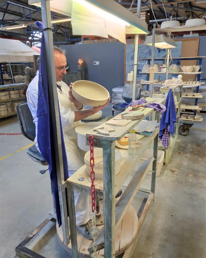 Visite atelier de fabrication Bleu de Delft chez Royal Delft