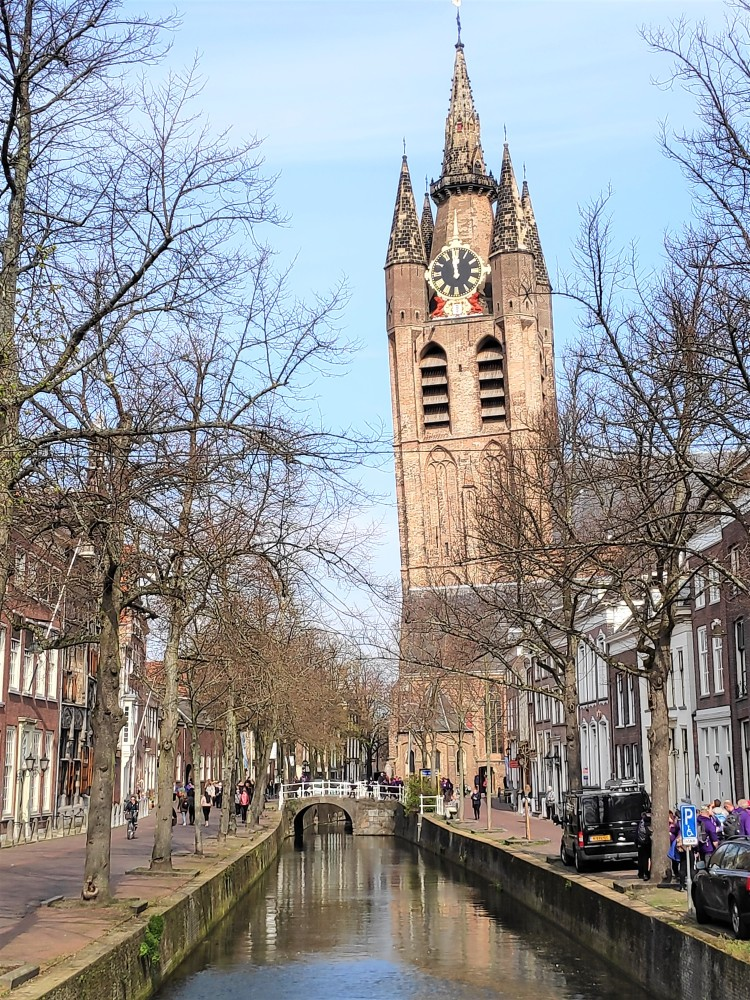 Vue sur Oude Kerk, Delft