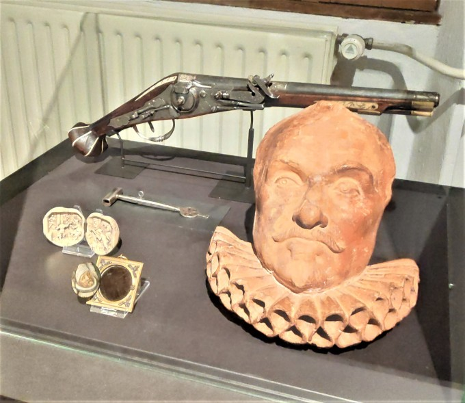 arme de l'assassin de Guillaume d'Orange au musée Prinsenhof