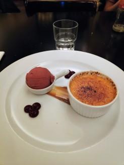 Crème brûlée au chocolat blanc
