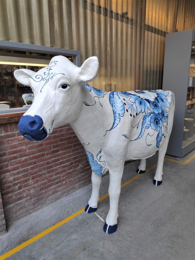 Vache Bleu de Delft chez Royal Delft