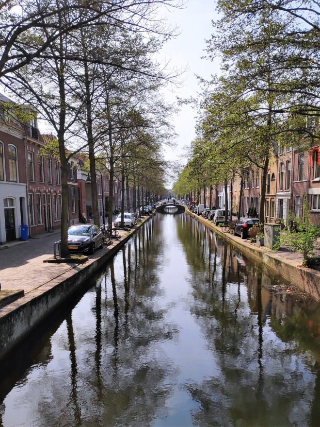 Canal ombragé de Delft