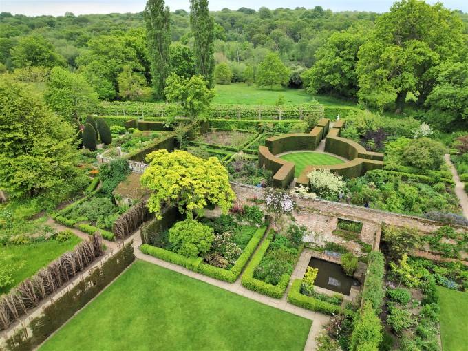 Vue depuis la tour des jardins de Sissinghurst