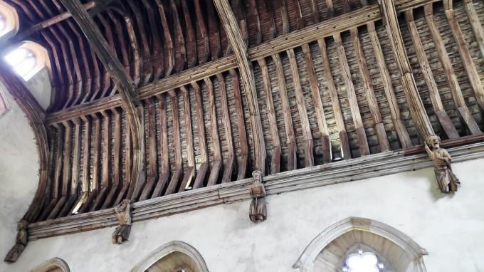 Plafond du monumentale Hall du baron à Penshurst Place