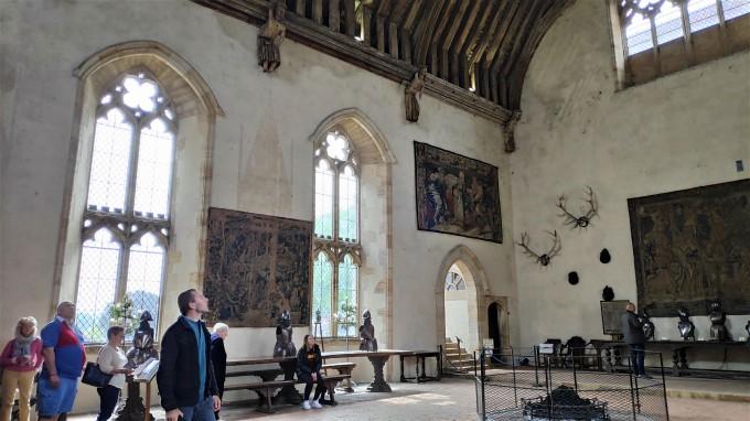 Hall du baron, salle monumentale de Penshurst Place