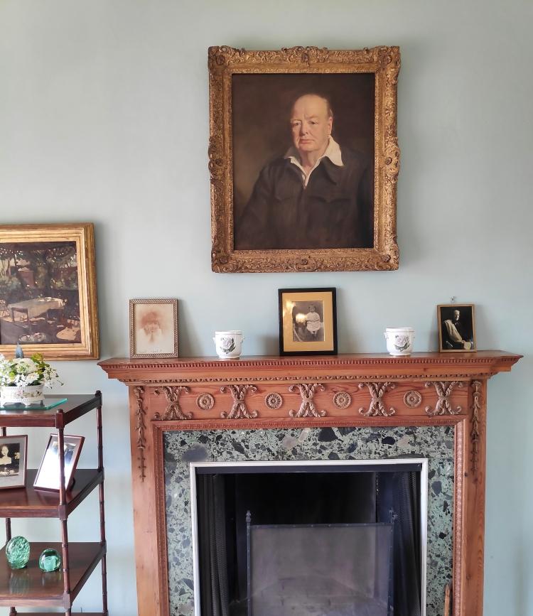Dans la maison de Churchill à Chartwell