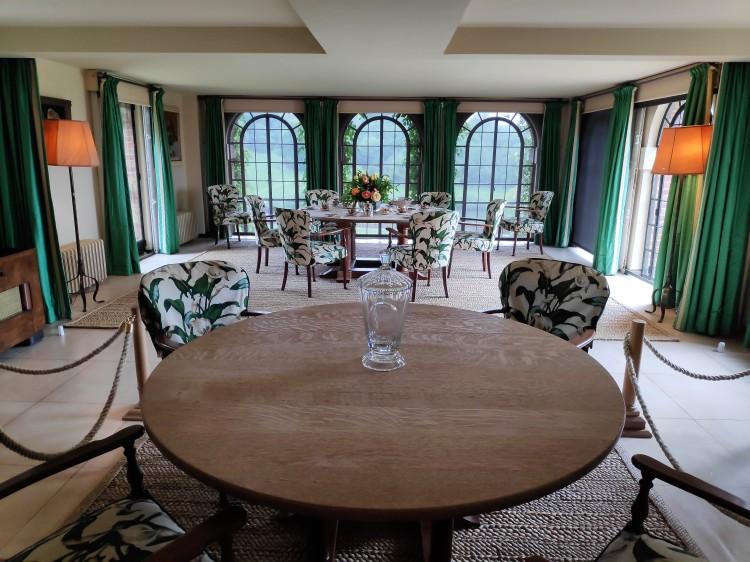 La salle à manger de Churchill à Chartwell