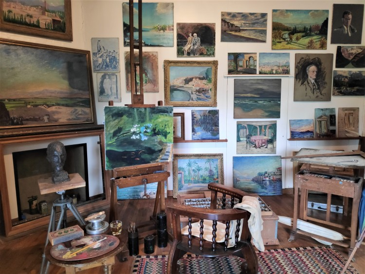 le studio de Winston Churchill à Chartwell