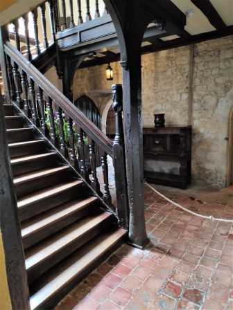 Escaliers dans Ightham Mote