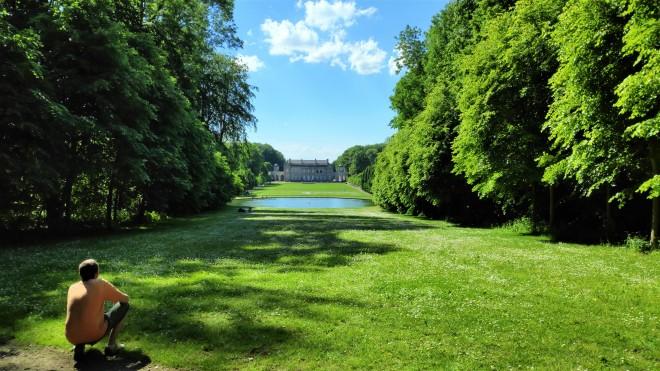 Point de vue sur le parc et le château de Seneffe