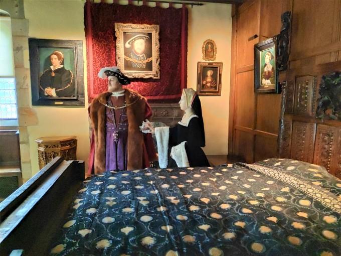 Chambre dans le Château de Hever avec Henry VIII