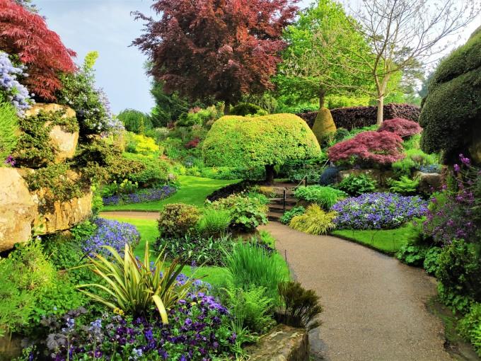 Jardins du château de Hever en Grande-Bretagne