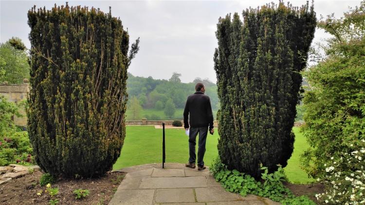 Dans les jardins de Winston Churchill