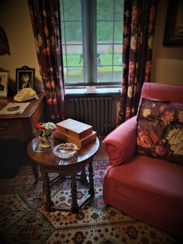 Dans la bibliothèque de Churchill à Chartwell - Kent