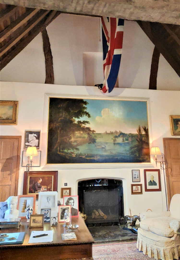 Le bureau de Winston Churchill à Chartwell