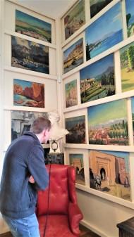 Dans le studio de Churchill à Chartwell