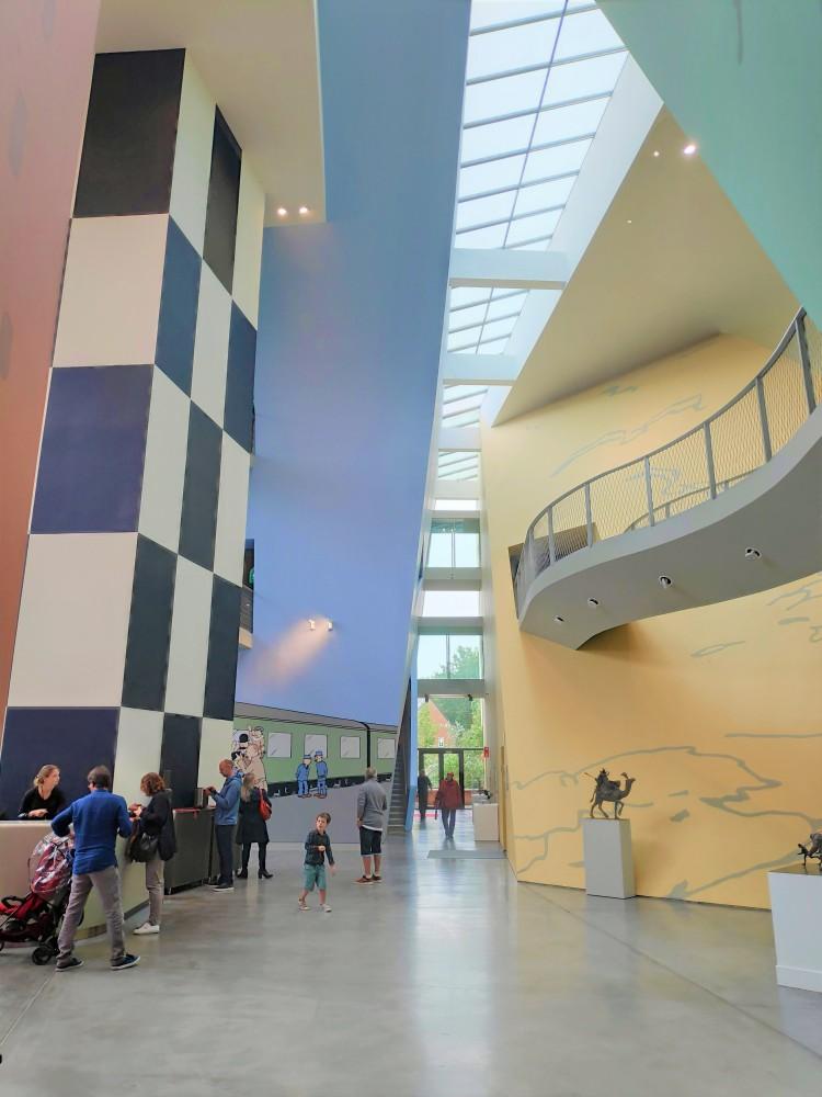 Hall d'entrée du musée Hergé