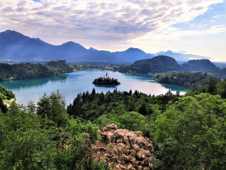 Vue magique sur le Lac de Bled