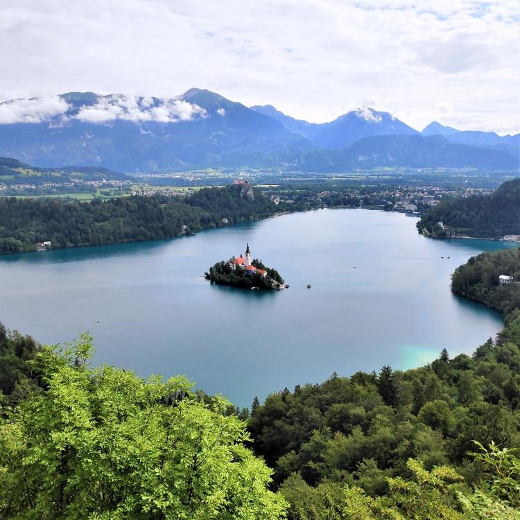 Sur les hauteurs du Lac de Bled