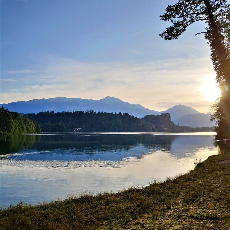 Lever de soleil en Slovénie