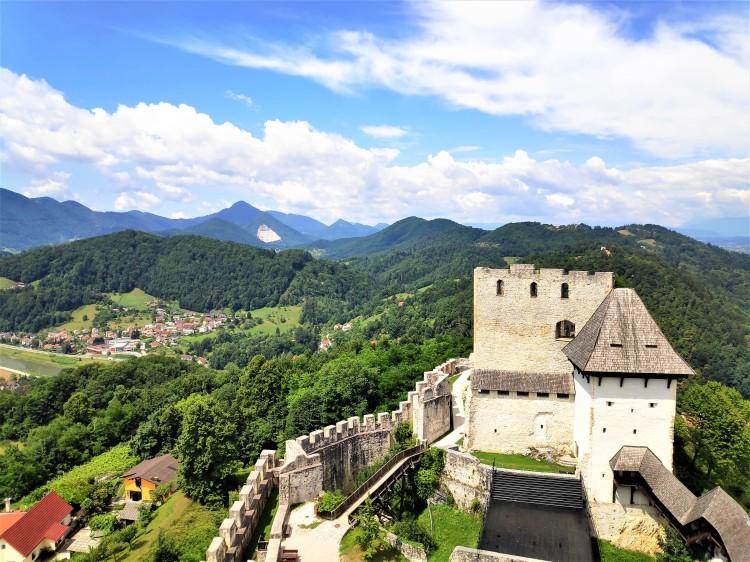 Vue depuis le château de Celje
