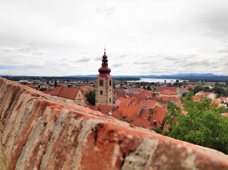 Ptuj et la Drava depuis le château