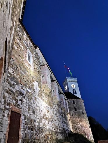 Le soir au château de Ljubljana