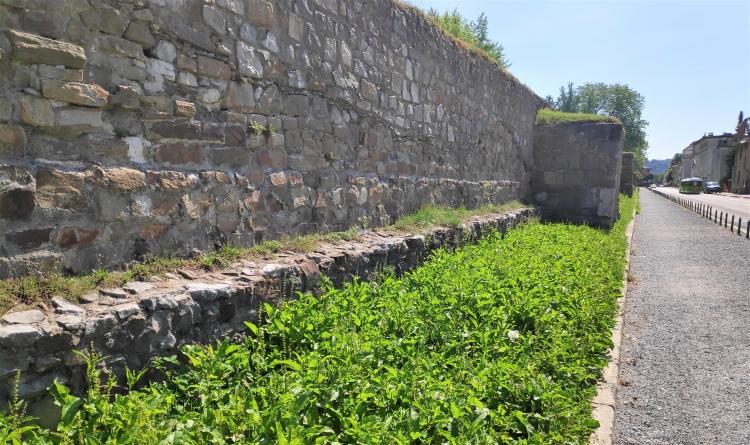 Le mur romain de Mirje à Ljubljana
