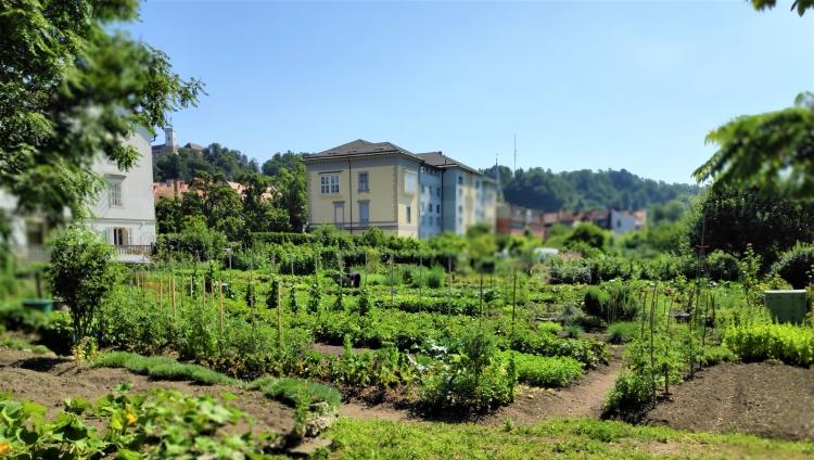 Les jardins de Krakovo à Ljubljana