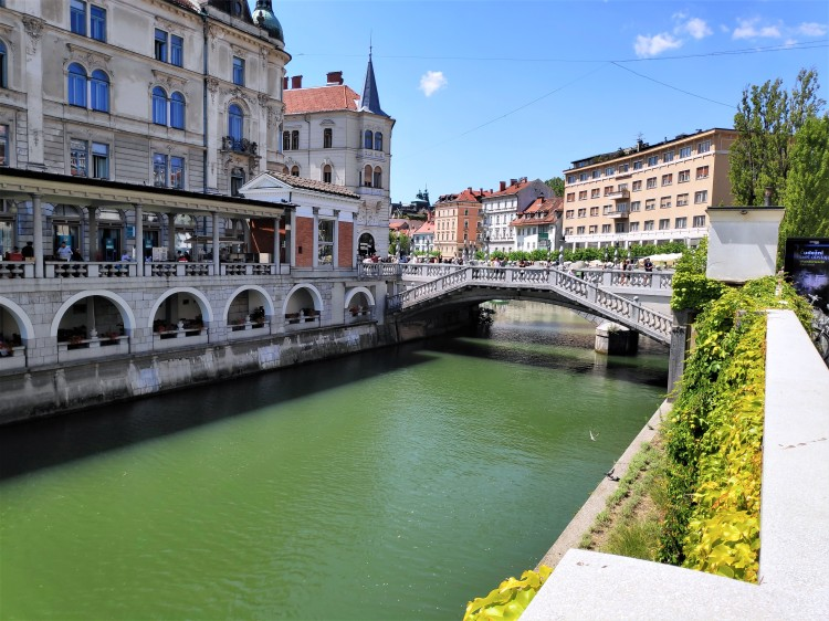 La Ljubljanica et le triple pont de Ljubljana
