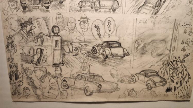 Crayonné au musée Hergé
