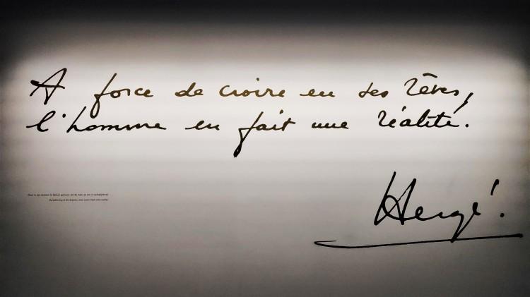 Citation Hergé au musée Hergé