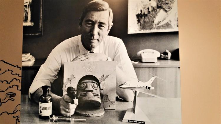 Photo au musée Hergé