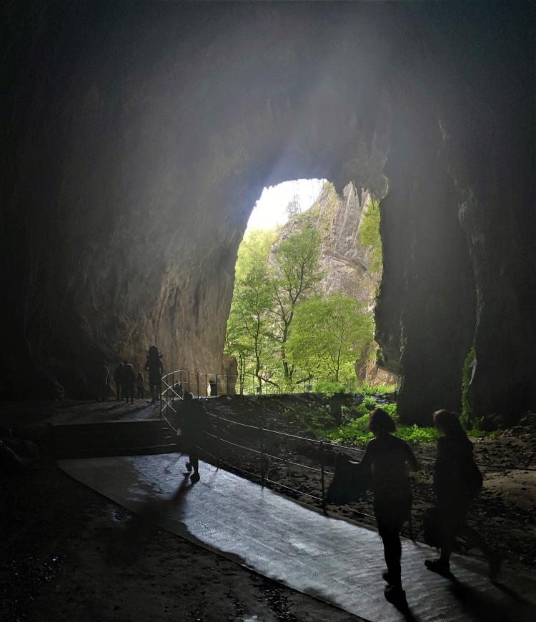 En sortant des grottes de Skocjan