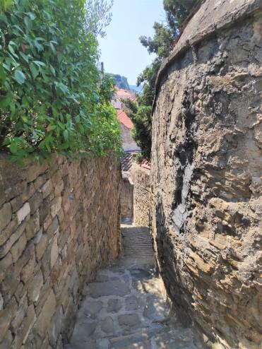 Ruelle à Piran en Slovénie