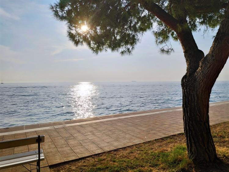 Reflet du soleil à Piran