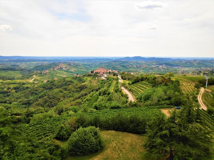Vue sur Smartno et la région de Goriska Brda
