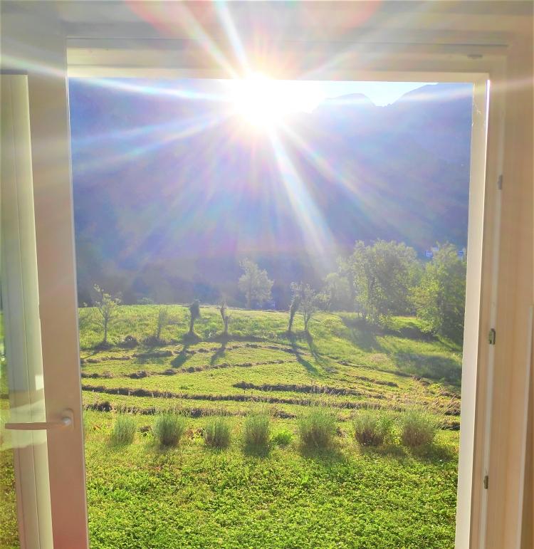 Lever de soleil dans la vallée de la Soca