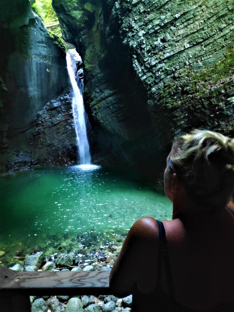 La cascade de Kozjak en Slovénie