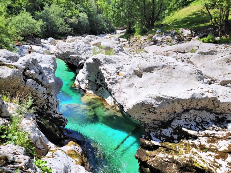 Petites gorges de la Soca, rivière en Slovénie